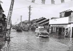 矢田野町口路浸水状況2