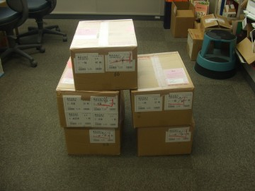 毎週約200冊の新刊本が届きます。